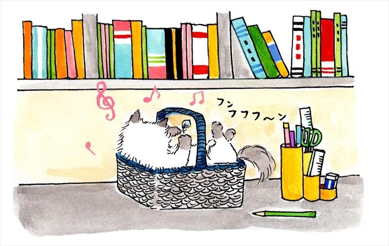 猫のイラスト 竹脇麻衣