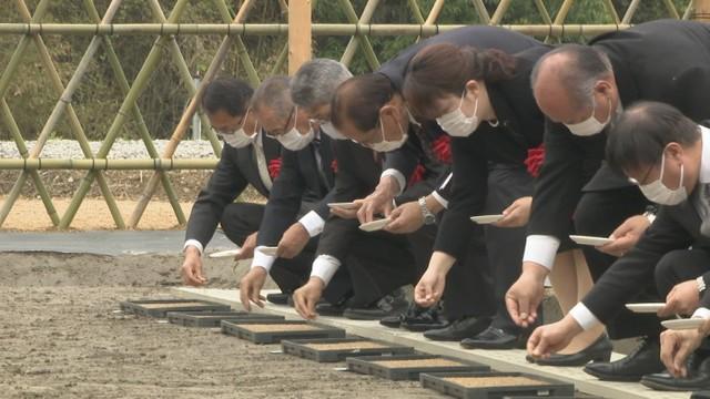 新嘗祭で納める米の種まき 香川