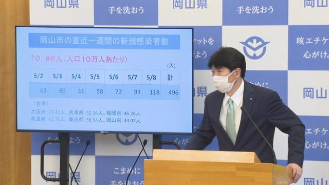 岡山県で過去最多の189人 新型コロナの新規感染者