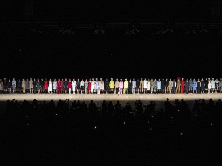 FILE -- The Marc Jacobs fashion show in New York on Feb. 12, 2020. Shows this month look entirely different, with fewer models and audience members. (Landon Nordeman/The New York Times)