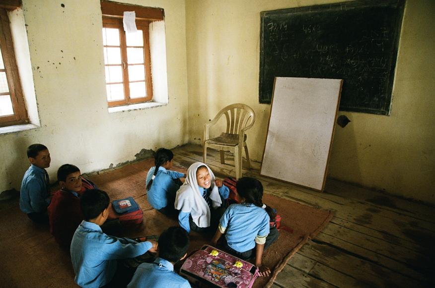 北岡教諭がインドで撮影した学校の様子を映した写真=本人提供