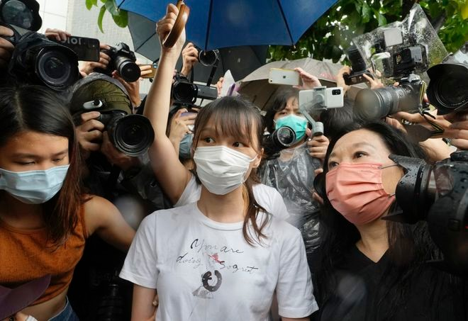 Asahi Shimbun: Hong Kong democracy activist Agnes