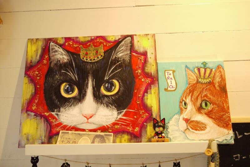 憲子さん直筆の肖像画