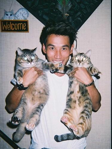 山中海輝と愛猫
