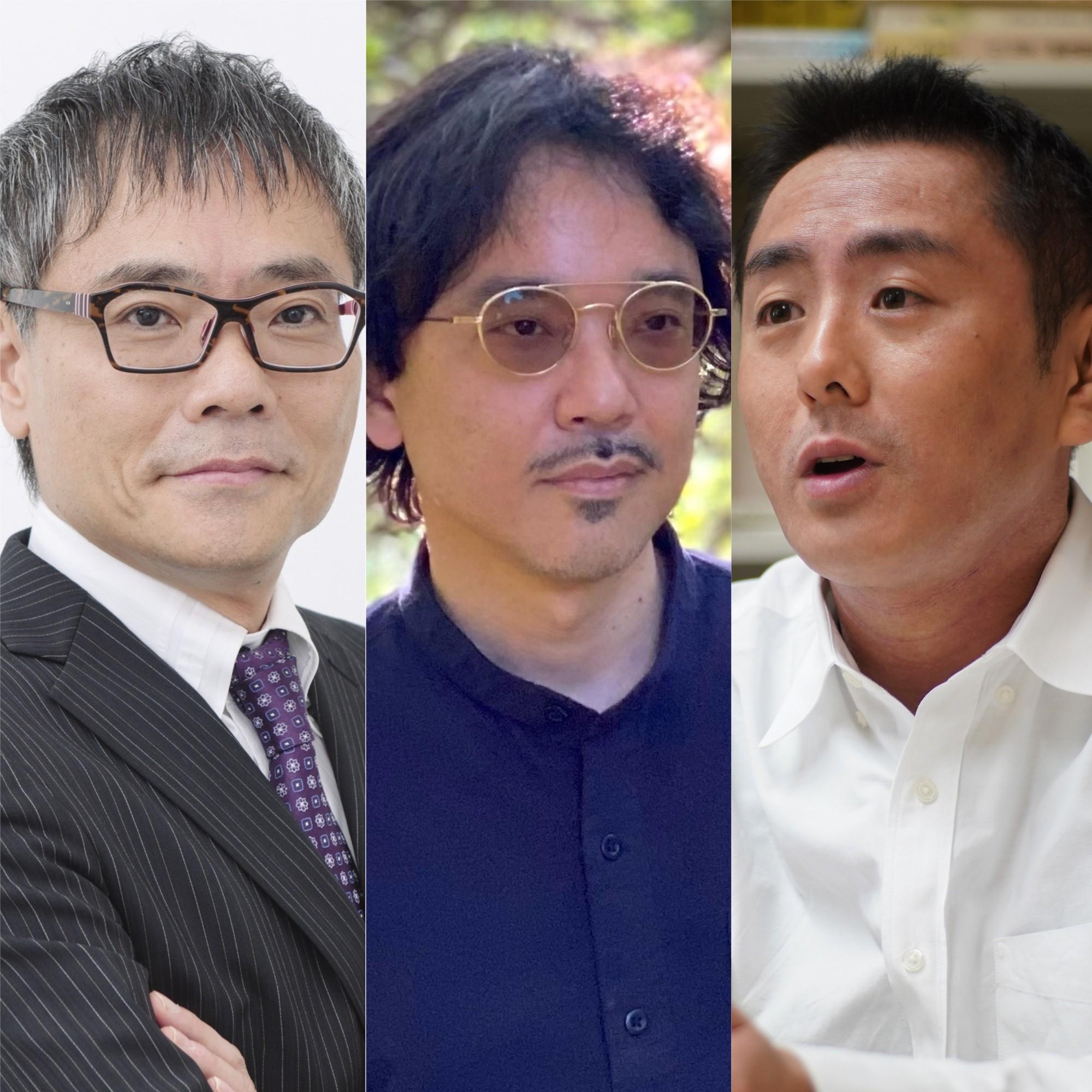 竹倉史人さん(中央)、いとうせいこうさん(左)、中島岳志さん