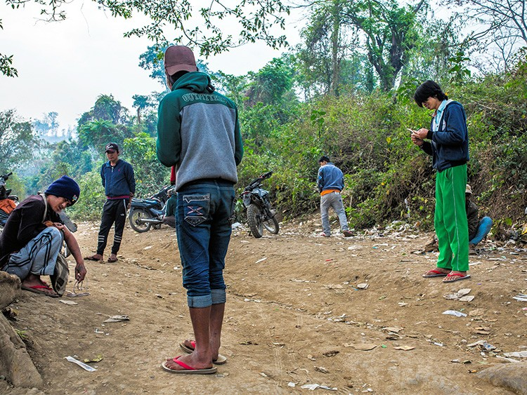 FILE -- Drug users in Lashio, in the northern Shan State of Myanmar, April 2, 2019. After dominating the global methamphetamine trade, crime syndicates in Myanmar are starting to make fentanyl, the drug that has fueled the U.S. opioid crisis. (Minzayar Oo/The New York Times)