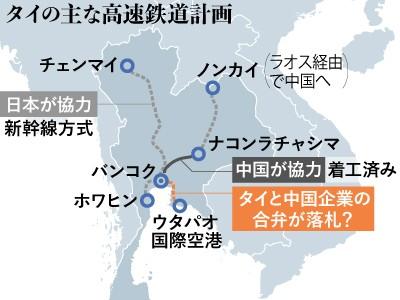 幻となった「日中協力」 タイ高速鉄道は中国とタイで建設へ :朝日新聞 ...