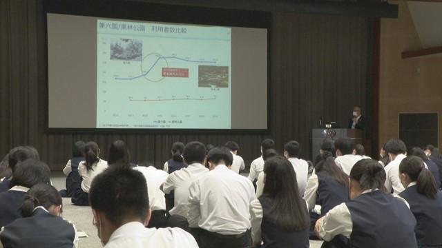 地域の課題や地元企業を知って 経済団体が高松市の高校で講演会